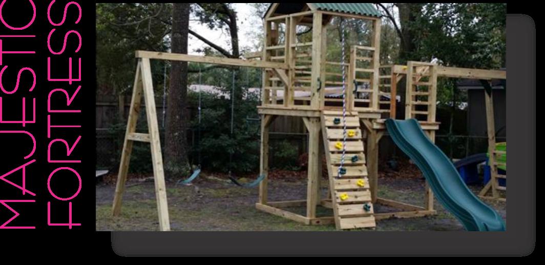 Majestic Fortress Playhouse Kids Playground Playset backyard Fun