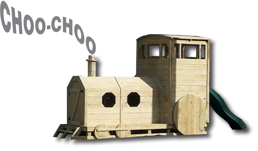 PLayset Train Playground Train Playhouse Commercial or backyard kids house