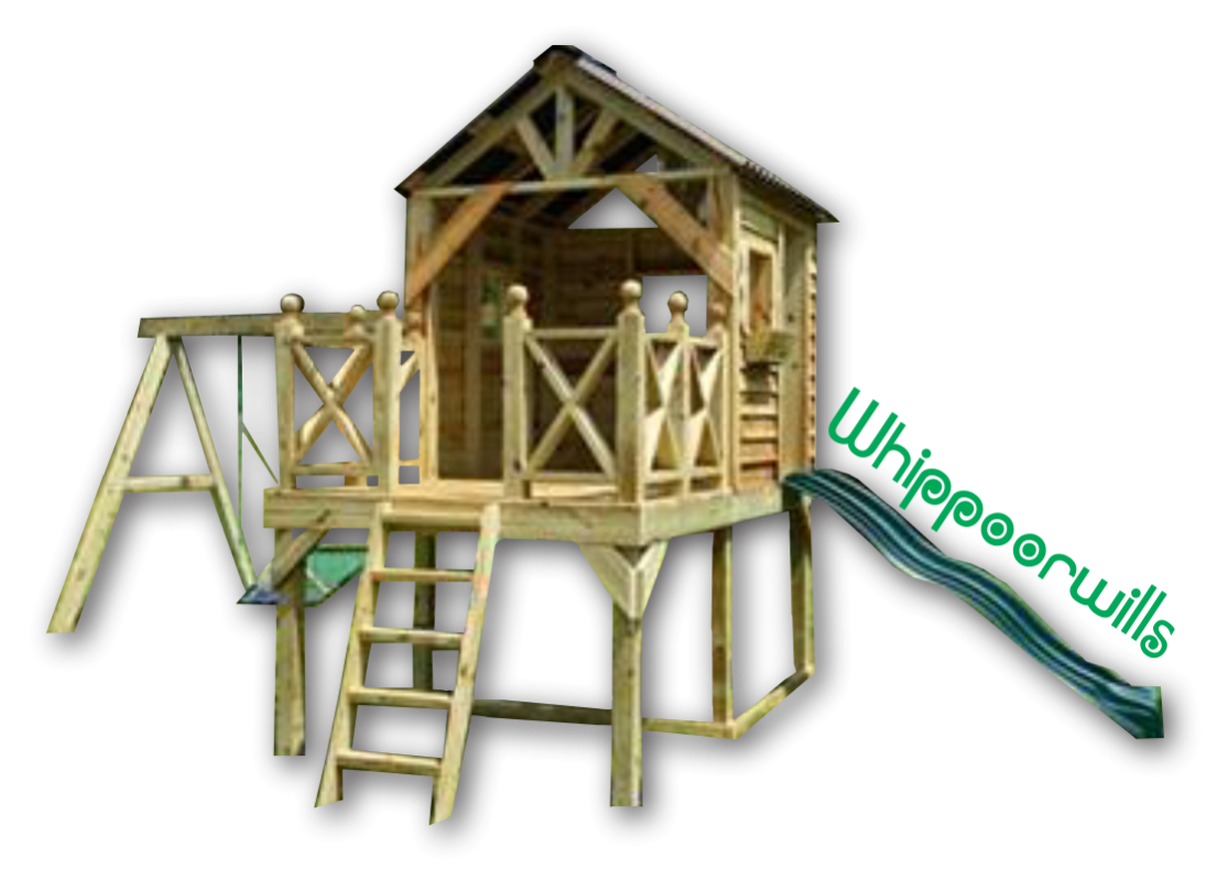 Playset Whippoorwills Playhouse for kids Backyard or Commercial Fun