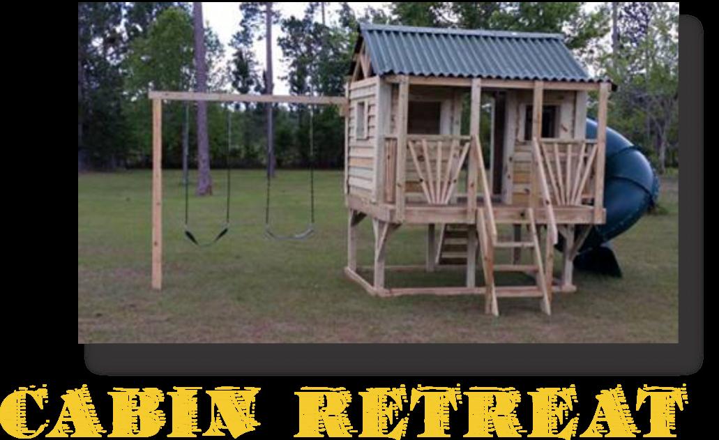 Playsets Cabin retreat Playhouse Kids Playground