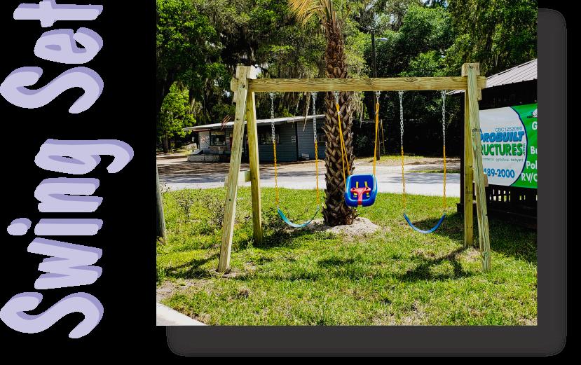 Playset Brochure Swing Set With Words Image